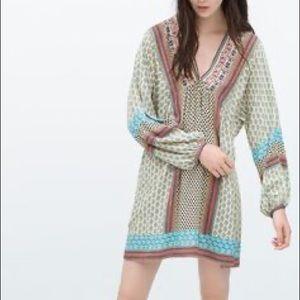 🎉Host Pick🎉Zara Trafaluc boho tunic dress, Sz M
